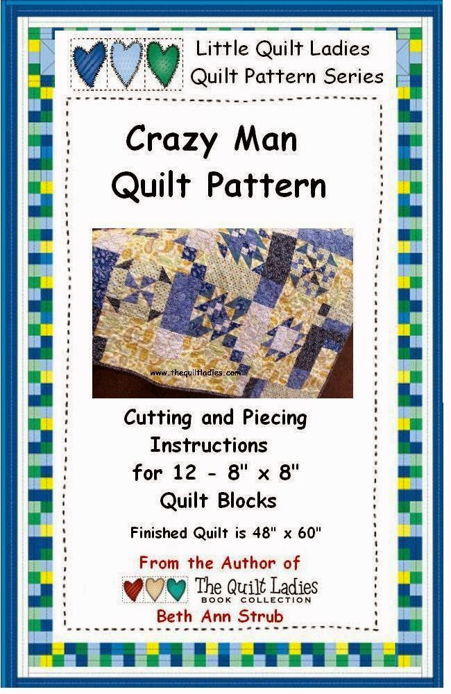 Crazy Man Quilt Pattern from The Quilt Ladies Store