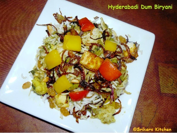 HYDERABADI DUM BIRYANI- VEGETABLE DUM BIRYANI RESTAURANT STYLE