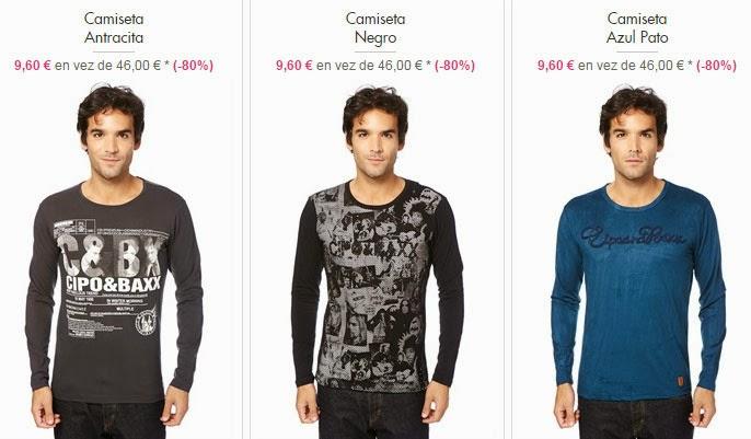 Ejemplos de camisetas de manga larga para ello por menos de 10 euros