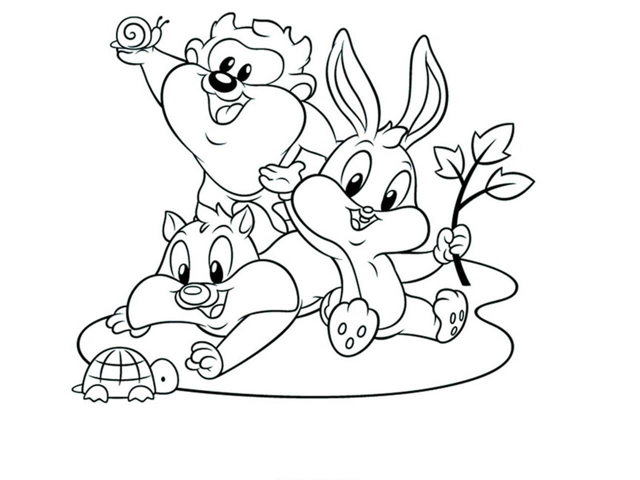 coloring pages cartoon for kids