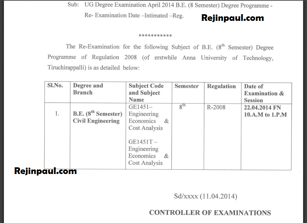 Engineering exam results anna university 2017 2018 for 5th sem time table 2014