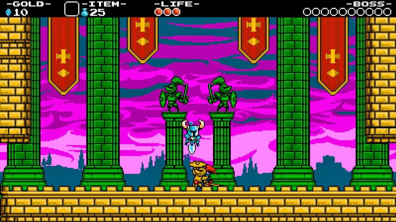 Screenshot of video game Shovel Knight