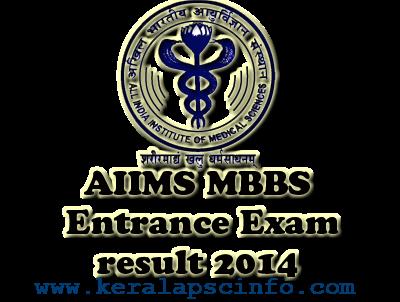 AIIMS MBBS Entrance Exam resul. AIIMS,