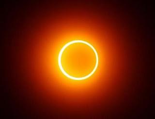 кольцеобразное солнецное затмение