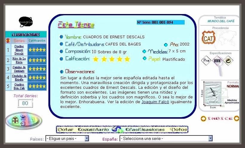 SOBRES-AZUCAR-COLECCIONES-ESPAÑA-CALIFICACIONES-MEJOR-SERIE-COLECCION-PINTURAS-PINTOR-ERNEST DESCALS