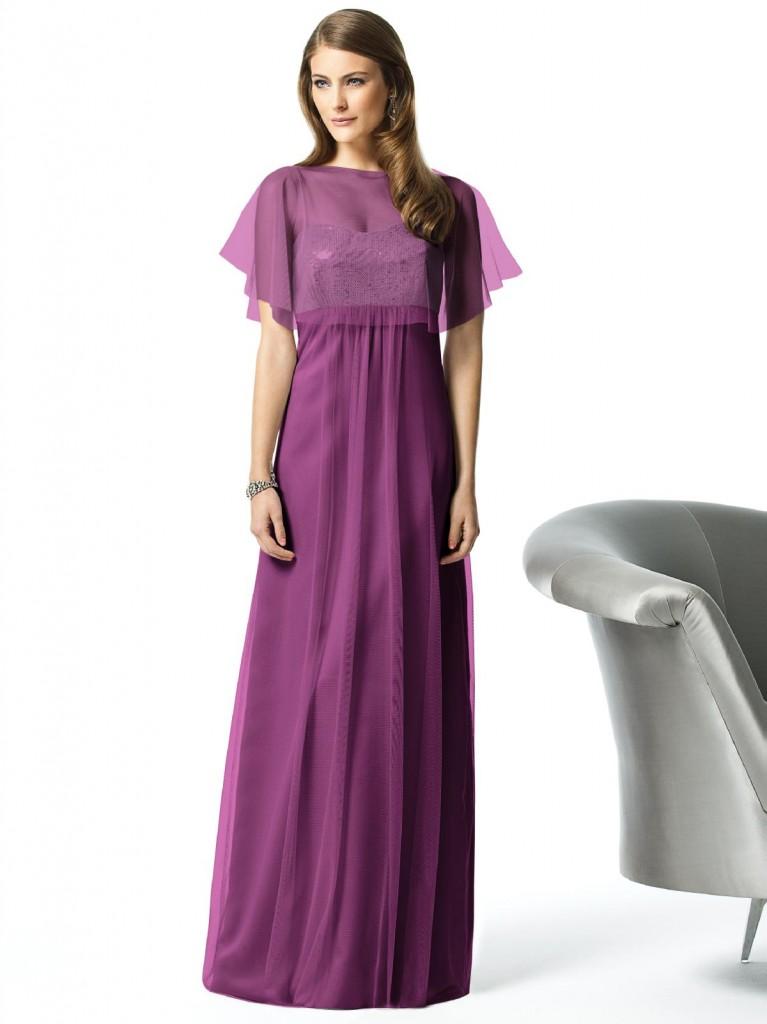 Standout 3 Purple (Plum) Bridesmaid Dresses Sleeves | wedding ideas