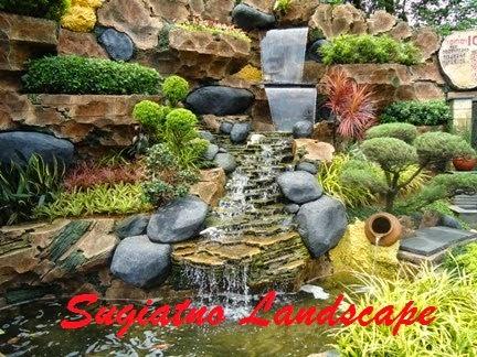 desain kolam relief cadas air terjun | tukang taman