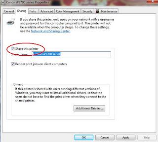sharing printer IT Programmer