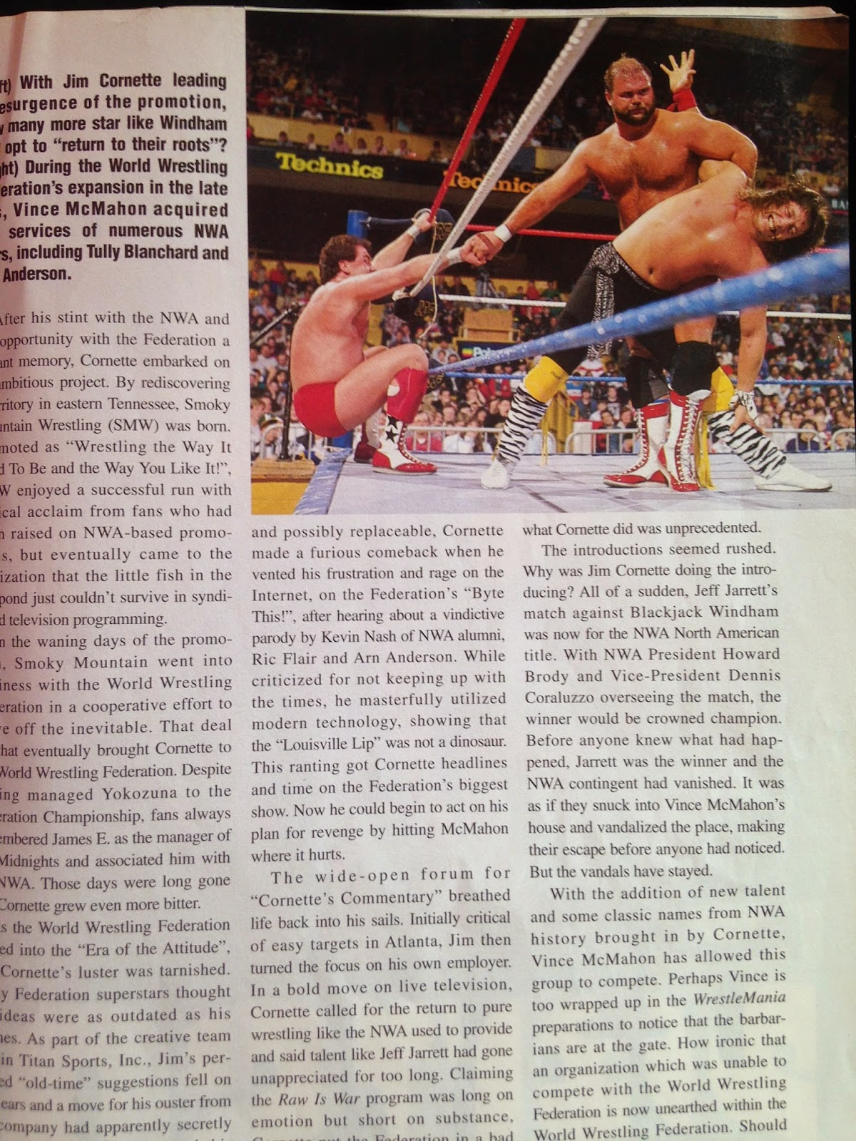 WWE - WWF Raw Magazine - April 1998 -  Feature on the 98 NWA revival in WWF