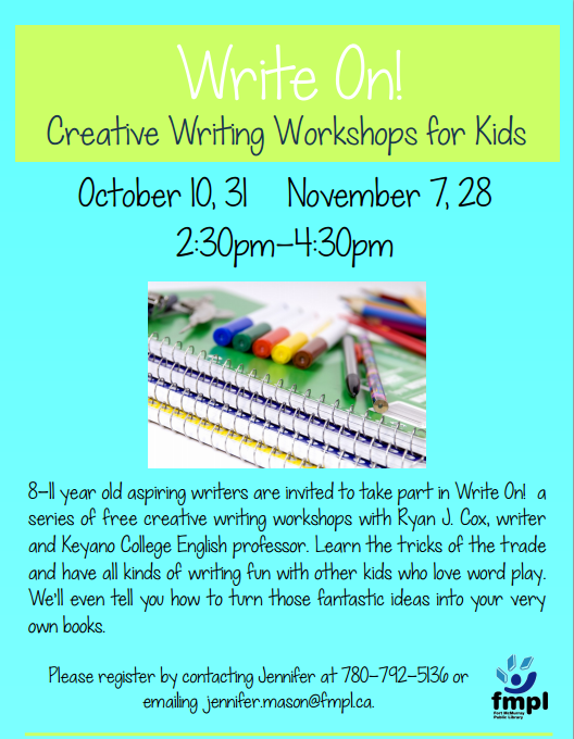 creative writing workshops for kids Creative writing is any form of writing which is written with the creativity of mind: fiction writing, poetry writing, creative nonfiction writing and more the purpose is to express something, whether it be feelings, thoughts, or emotions rather than only giving information or inciting the reader.