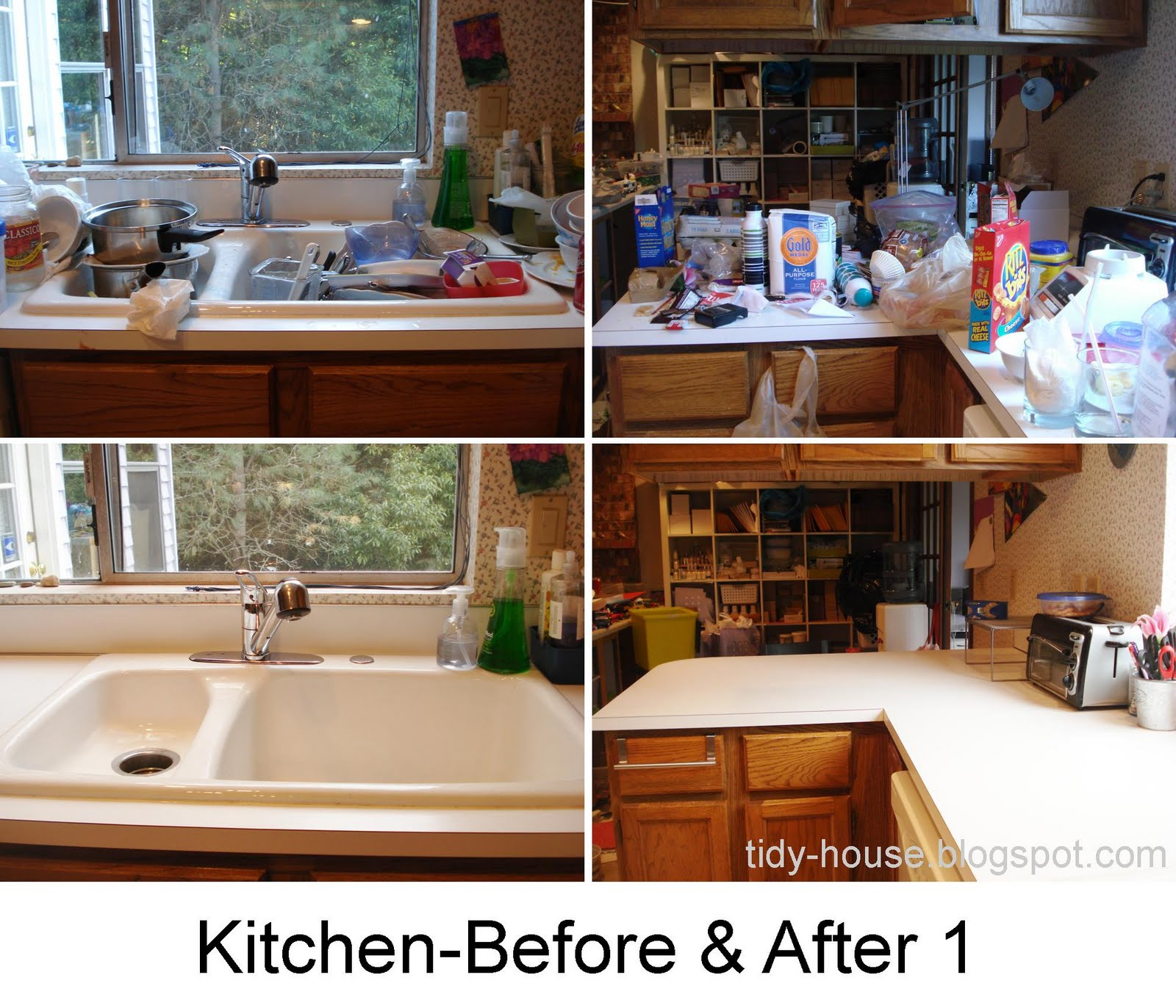 tidy house: final kitchen-before and after