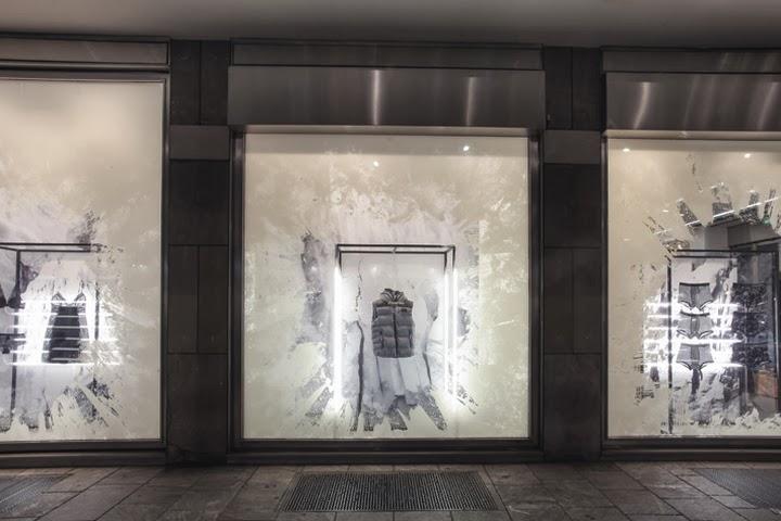 Escaparates navideños, StudioXAG, Calvin Klein, Icebergs, window dressing