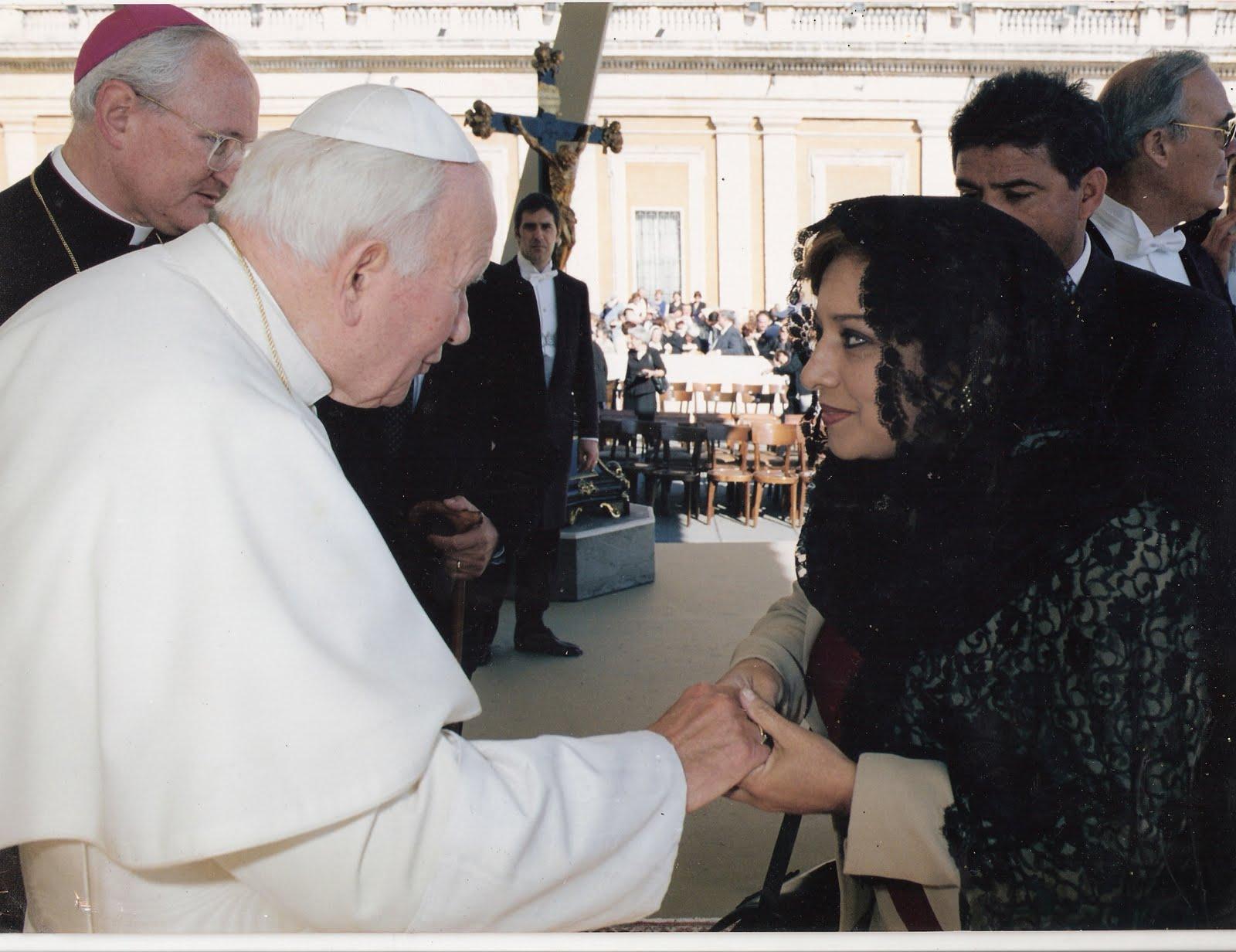 Con el Papa Juan Pablo Segundo
