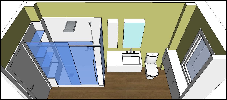 Los hogares que habitamos proyecto ba o de m carmen soluci n blancos amarillo ocre - Mueble bano estrecho ...