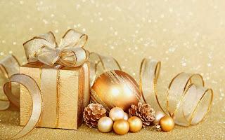 Adornos de Navidad, Color Dorado