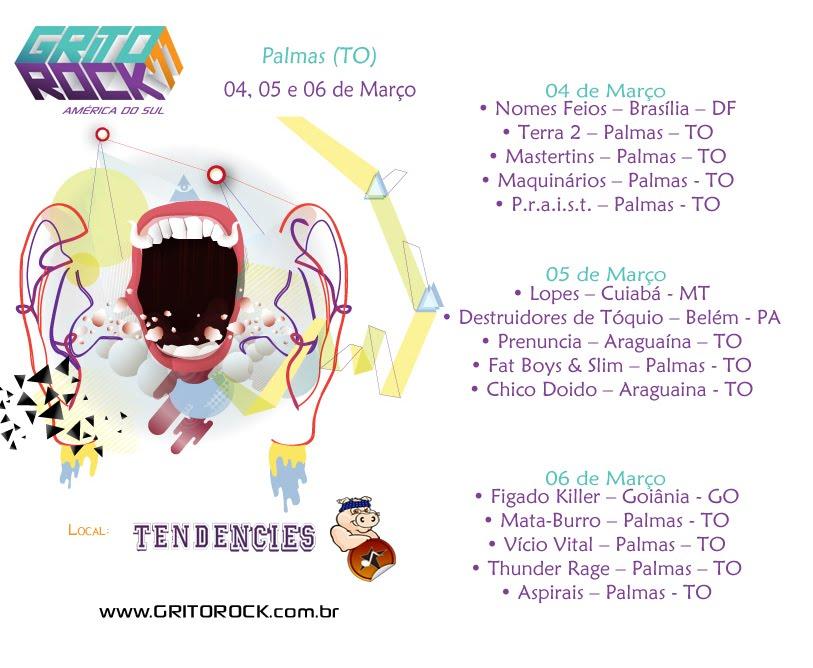 Programação do Grito Rock 2011 - Palmas (TO)