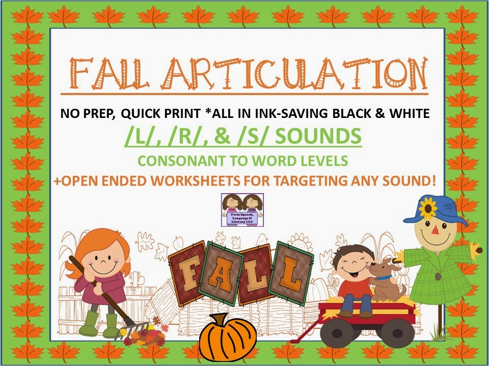 http://www.teacherspayteachers.com/Product/Fall-Articulation-No-Prep-Quick-Print-Unit-L-S-R-open-ended-pages-1400504