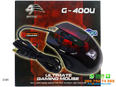 Mouse Gaming BattleCat G400U 6 tombol 2400DPI Laser Mouse USB