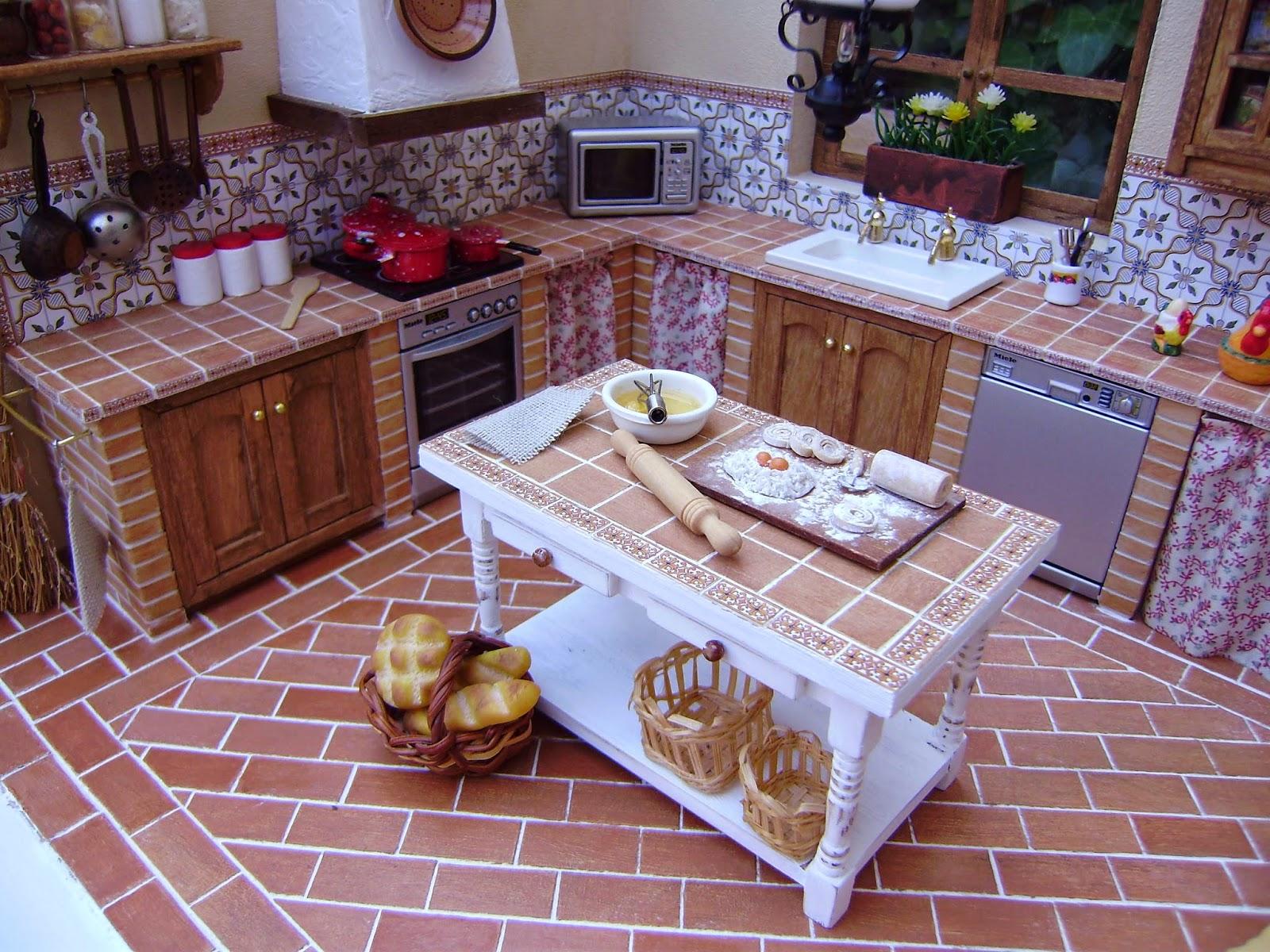 Mi nueva cocina r stica sin parar de trastear - Cocinas de material rusticas ...