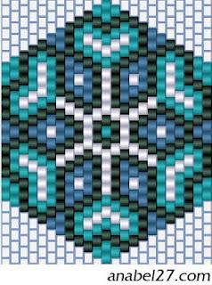 схема сережки серьги кирпичным плетением бисер