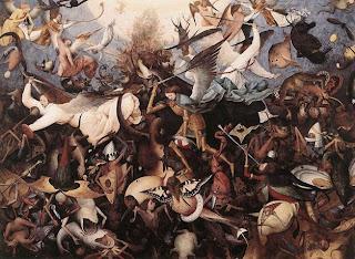 'La caída de los ángeles rebeldes', óleo de Pieter Bruegel el Viejo (1562)