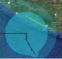 Tropischer Sturm RAYMOND bei Mexiko wird wahrscheinlich Hurrikan, Raymond, aktuell, Pazifische Hurrikansaison 2013, 2013, Oktober, Mexiko, Vorhersage Forecast Prognose, Satellitenbild Satellitenbilder, Oaxaca, Guerrero, Chiapas,