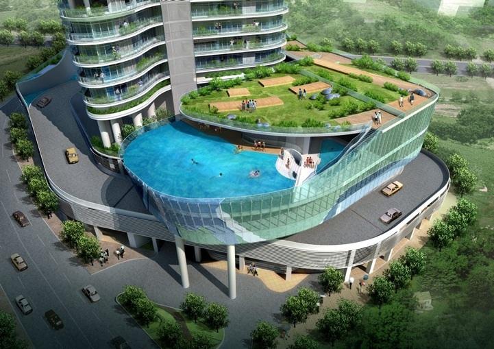 Este es el edificio m s lujoso del mundo con piscina en for 3 t piscina