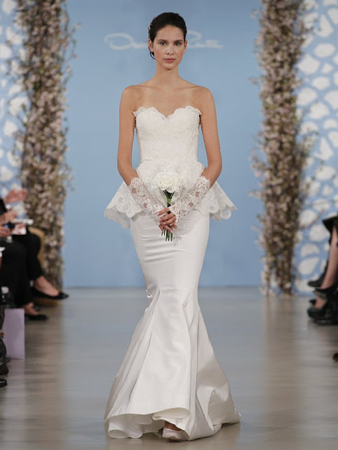 Oscar de la Renta Spring 2014 mermaid lace Wedding Dresses