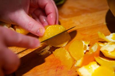 appelsiinin hedelmälihan irroitus