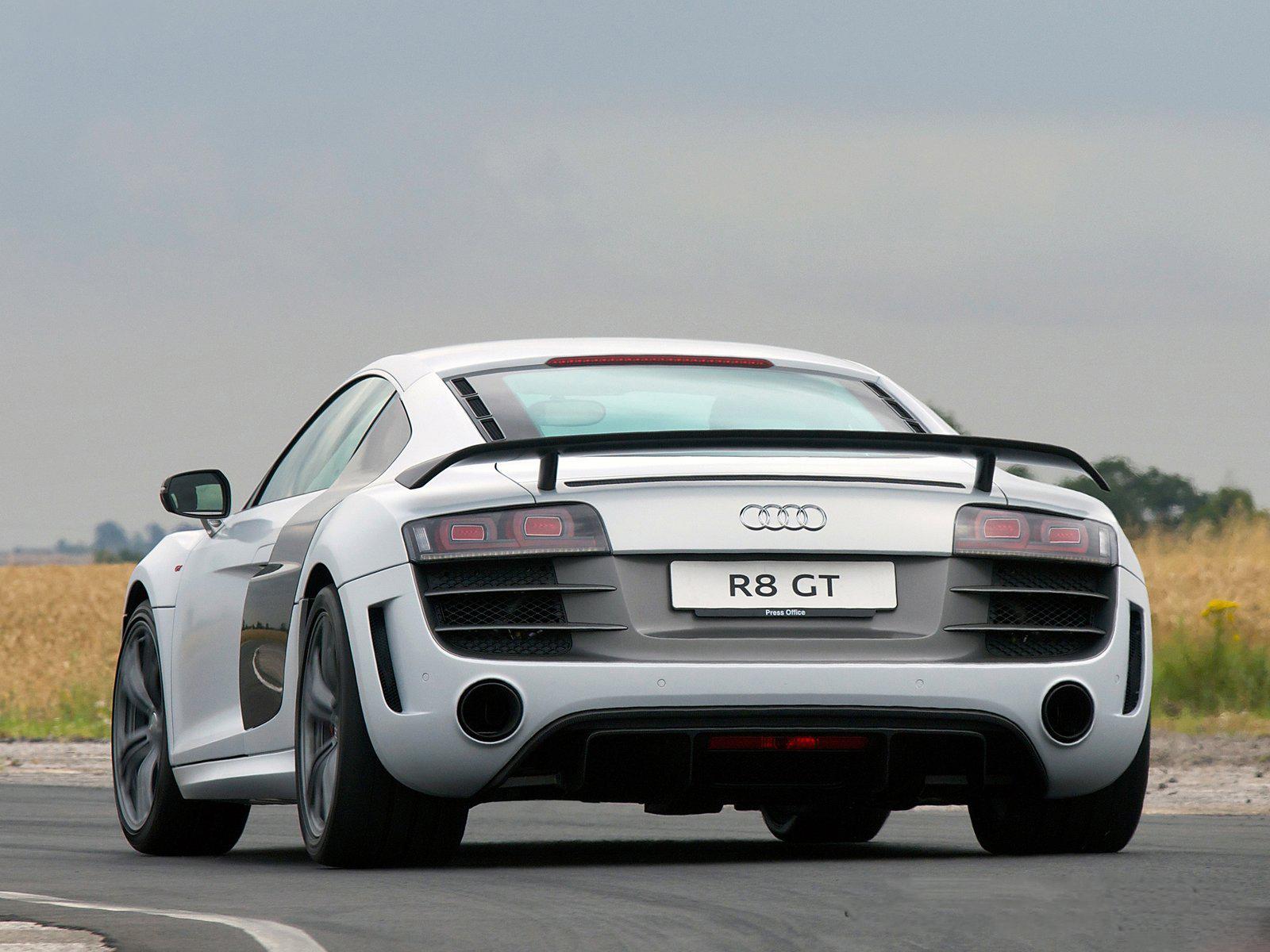 Audi r8 gt rear view