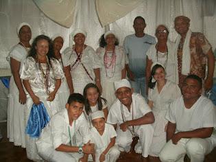Membros da casa de umbanda pai jose de aruanda, na cidade de Areia Branca R/N