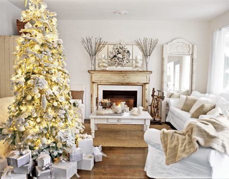 here is a beautiful example of a white christmas from country living magazine