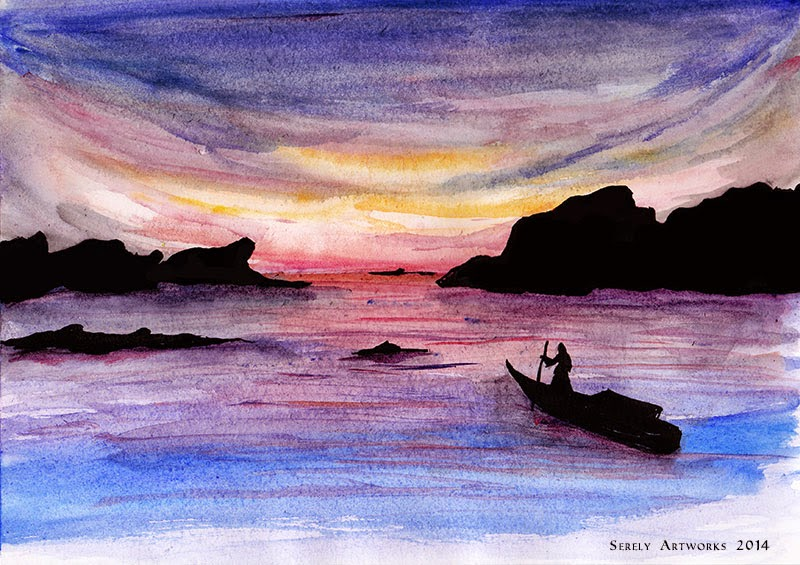 watercolours painting aquarelle illustration