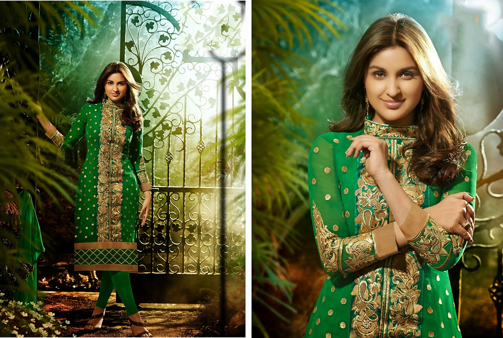 parineeti chopra georgette anarkali wallpapers - Parineeti Chopra Georgette Anarkali Wallpapers HD