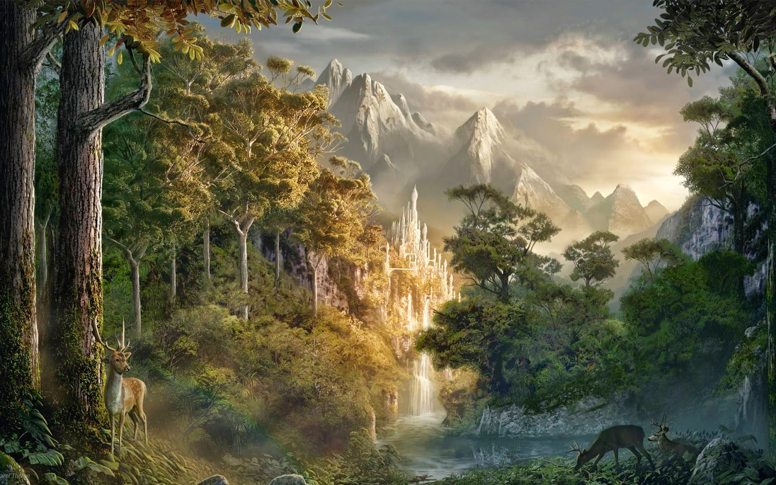 Il rifugio degli elfi ancora paesaggi fantasy for Paesaggi fantasy immagini