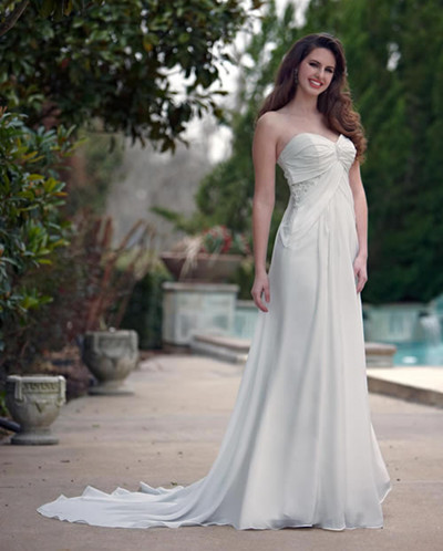 long maternity wedding dress