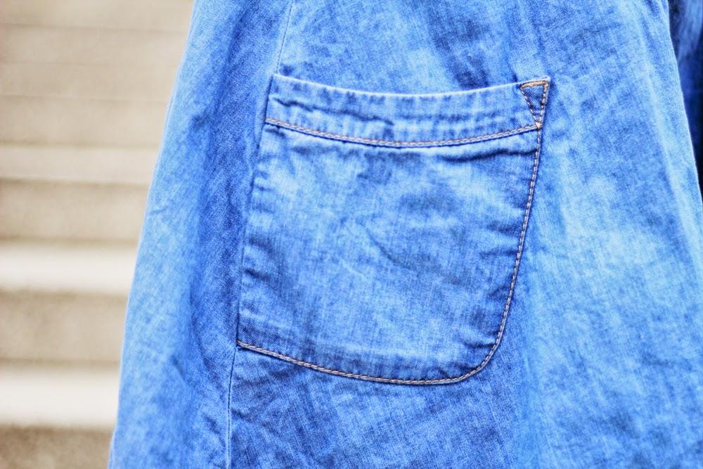 DENIM SKIRT STYLE OUTFIT MYBERLINFASHION