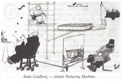 rube Goldberg. simple reducing machine. Deleuze and Guattari AntiOedipus
