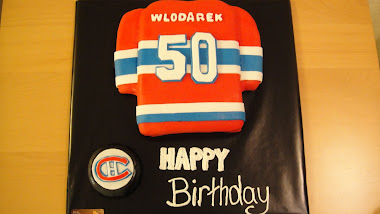 Hockey Jersey 50th Bday Cake