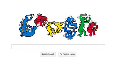 Keith haring, GoogleNoodle for Keith Haring