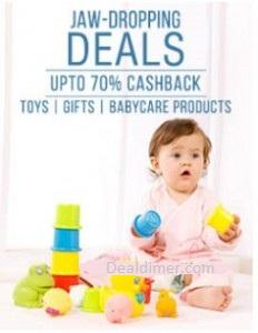 Baby, Kids & Toys Extra upto 70% Cashback
