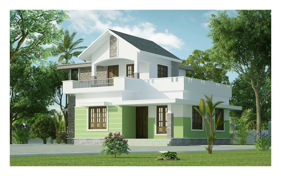 Kerala Budget House 1161 Sqft.with Estimate