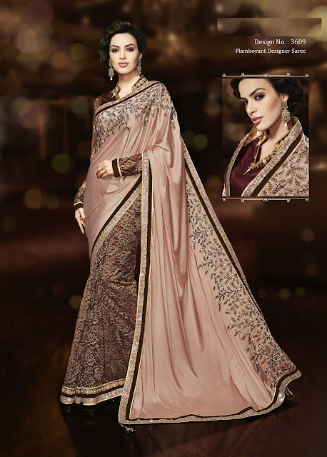 Dazzling Collections – Designer  Net & Chiffon Saree Buy Online