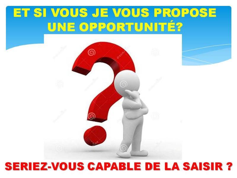 Opportunité ce pourrait être quelque chose qui pourrait changer votre vie ou simplement le monde