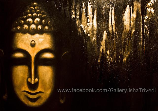 "Buddha Painted by Isha Trivedi ""Isha Trivedi"""