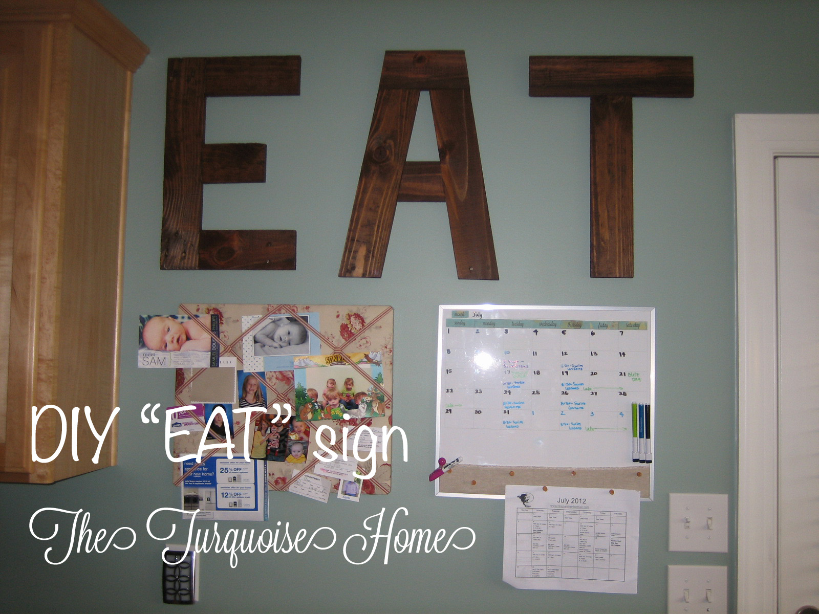 Diy Quot Eat Quot Sign From Pallets The Turquoise Home