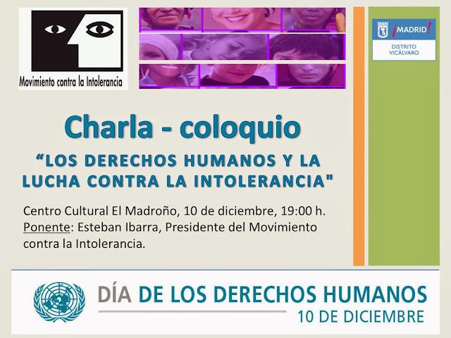 """Charla-coloquio """"Los derechos humanos"""" CC El Madroño, 10 dic 2013"""