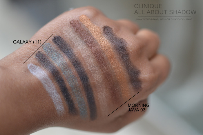 Clinique All About Eyeshadow Quad Indian Darker Skin Beauty New Makeup Blog Photos Swatches Galaxy 11 Morning Java 03