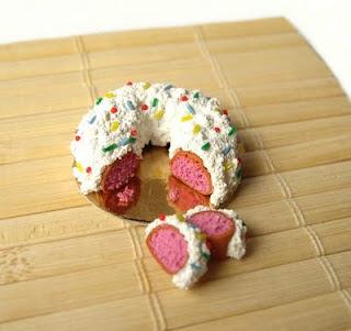 Caramicola dolce in pasta sintetica per case di bambola