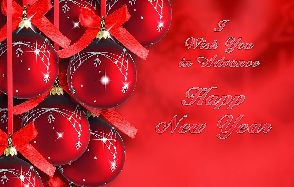 Christmas Bell Happy New Year Advance Wishes 2015 Card Images